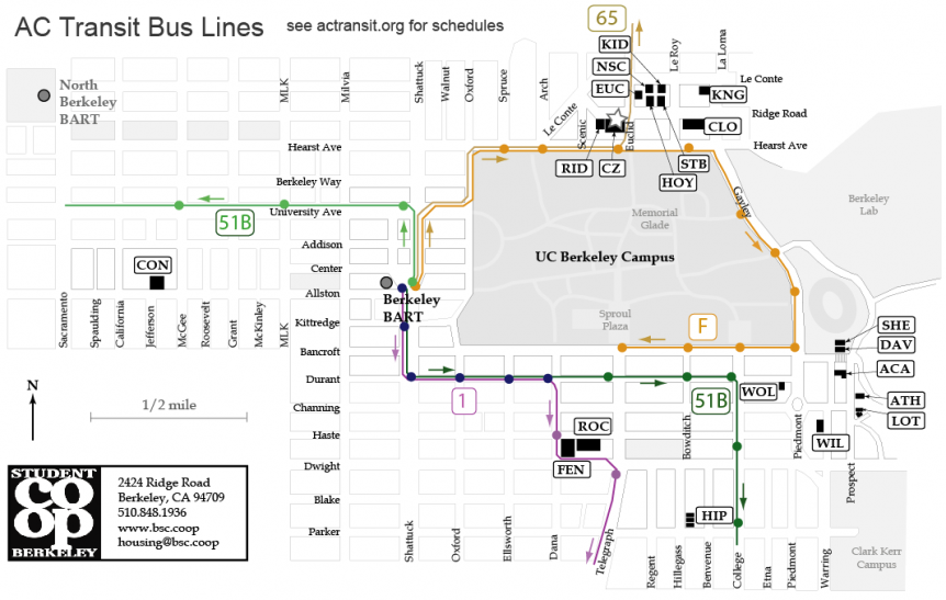An image depicting AC transit routes.